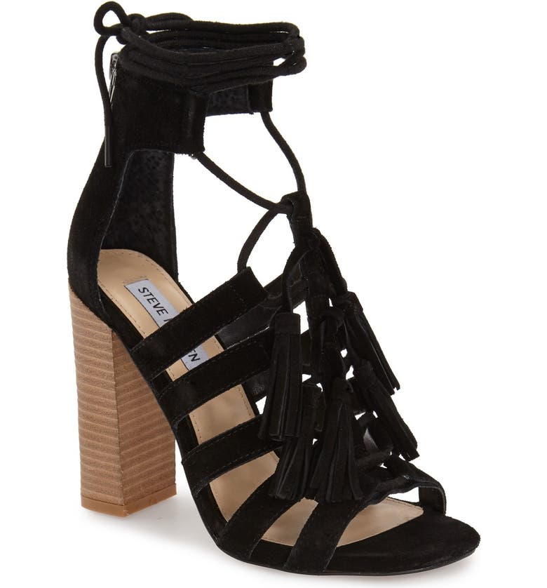 STEVE MADDEN 'Tasssal' Lace-Up Sandal, Main, color, 006