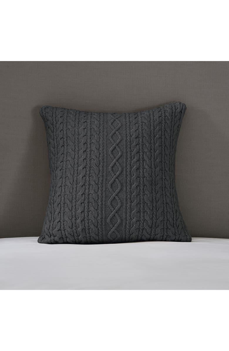 THE WHITE COMPANY Burlington Accent Pillow Cover, Main, color, CHARCOAL