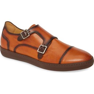 Mezlan Vicenza Double Monk Strap Sneaker- Brown