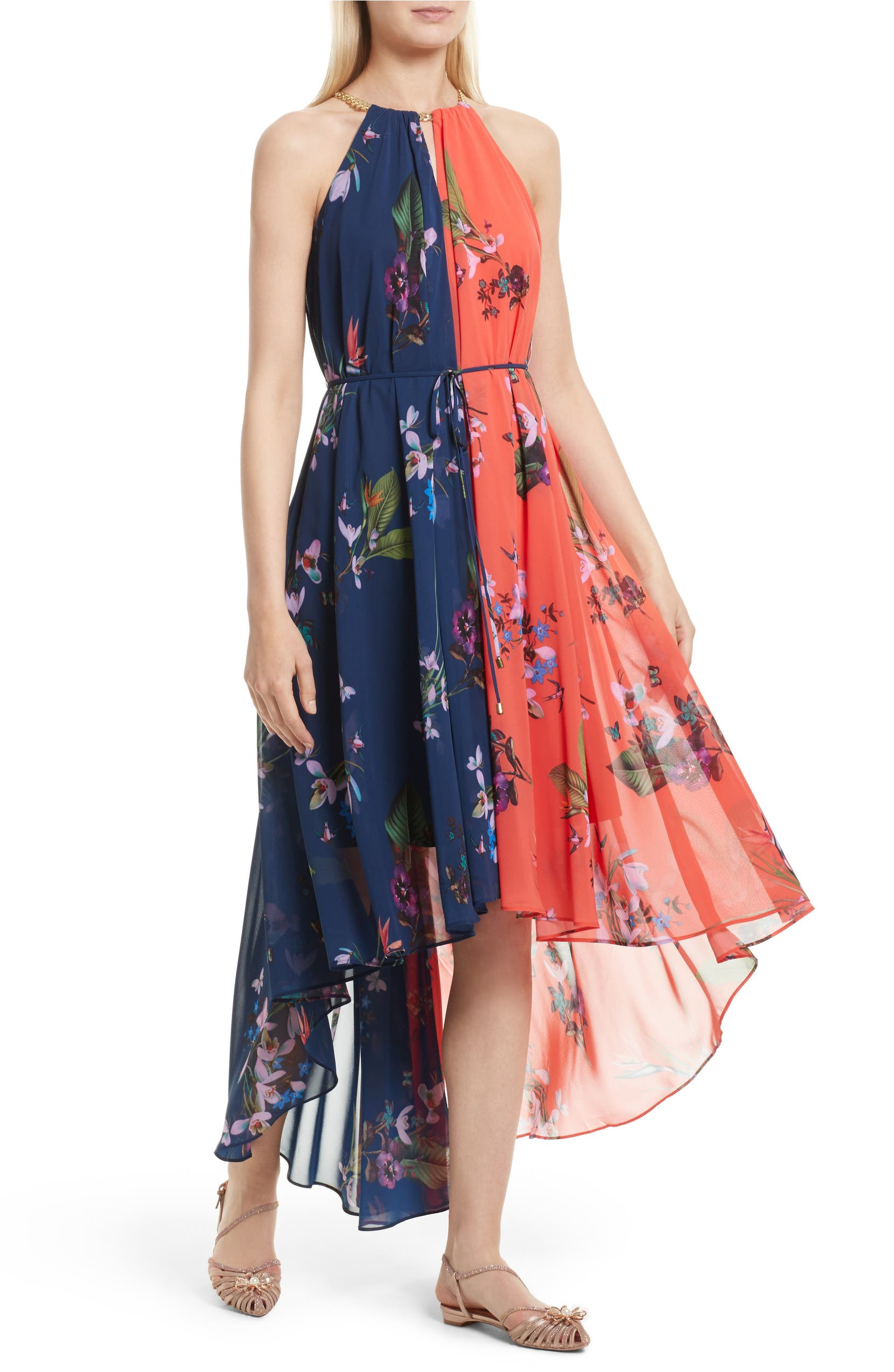 fd876facbcb0 Ted Baker London Hanie High/Low Maxi Dress | Nordstrom