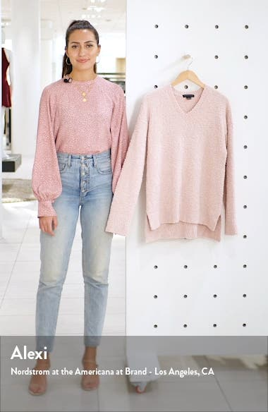V-Neck Teddy Sweater, sales video thumbnail