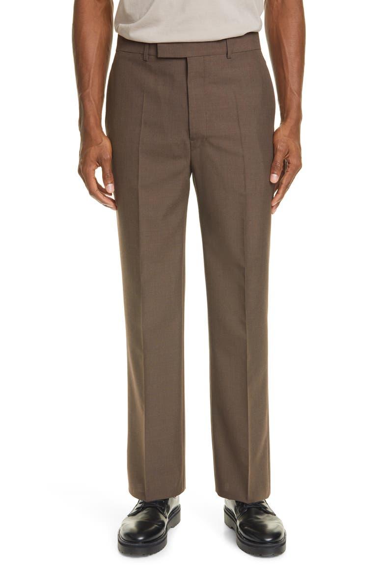 LEMAIRE Dress Pants, Main, color, GREY BROWN