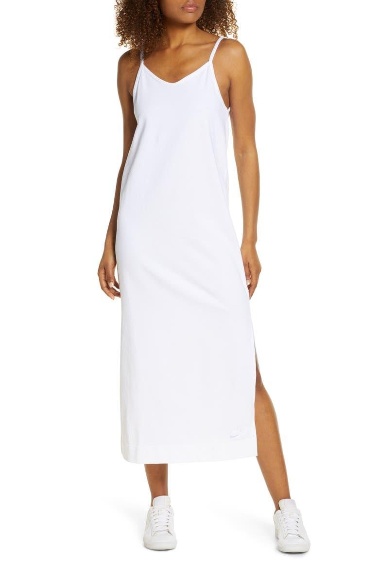 NIKE Sportswear Jersey Dress, Main, color, WHITE/WHITE