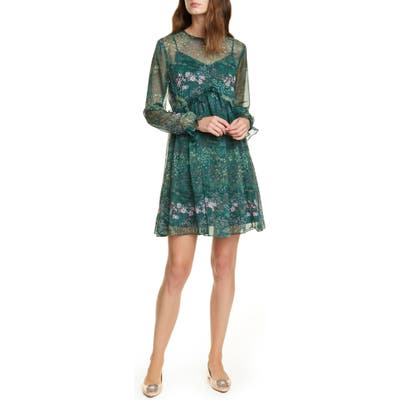 Ted Baker London Sorella Long Sleeve Dress, (fits like 0-2 US) - Green