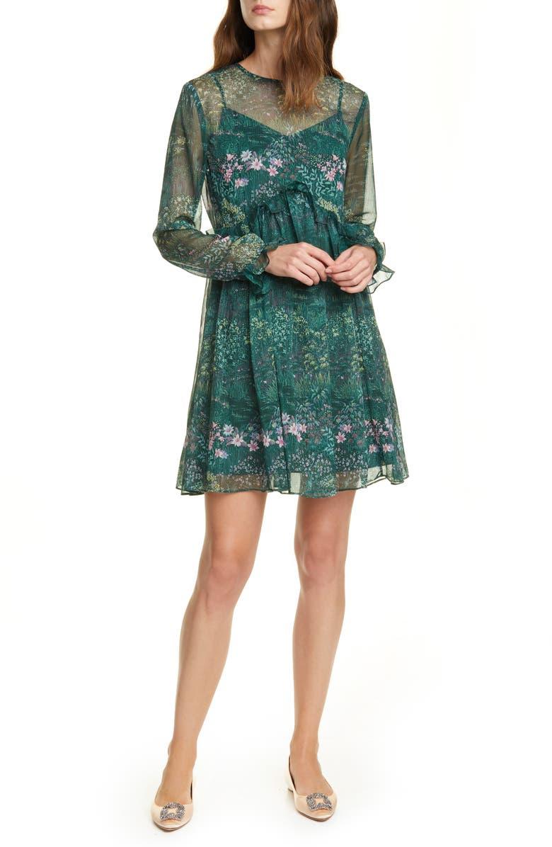 TED BAKER LONDON Sorella Long Sleeve Dress, Main, color, 301