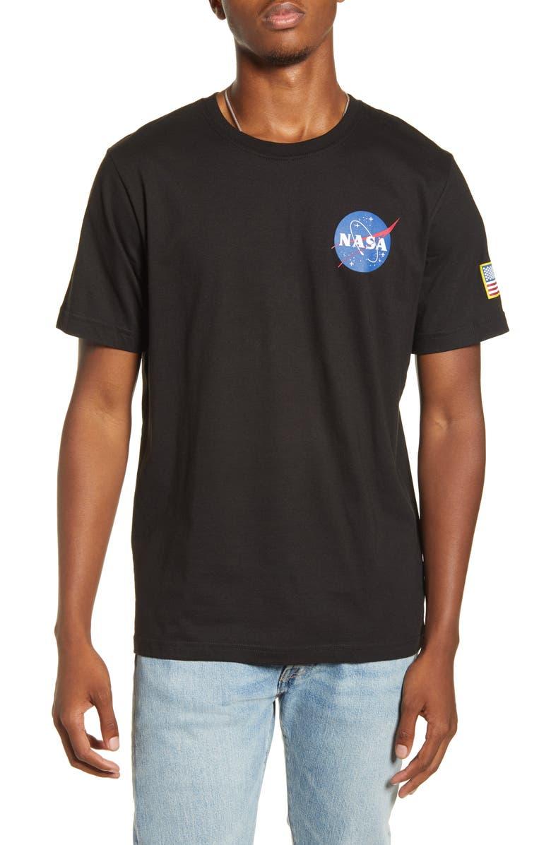 ALPHA INDUSTRIES Space Shuttle T-Shirt, Main, color, BLACK