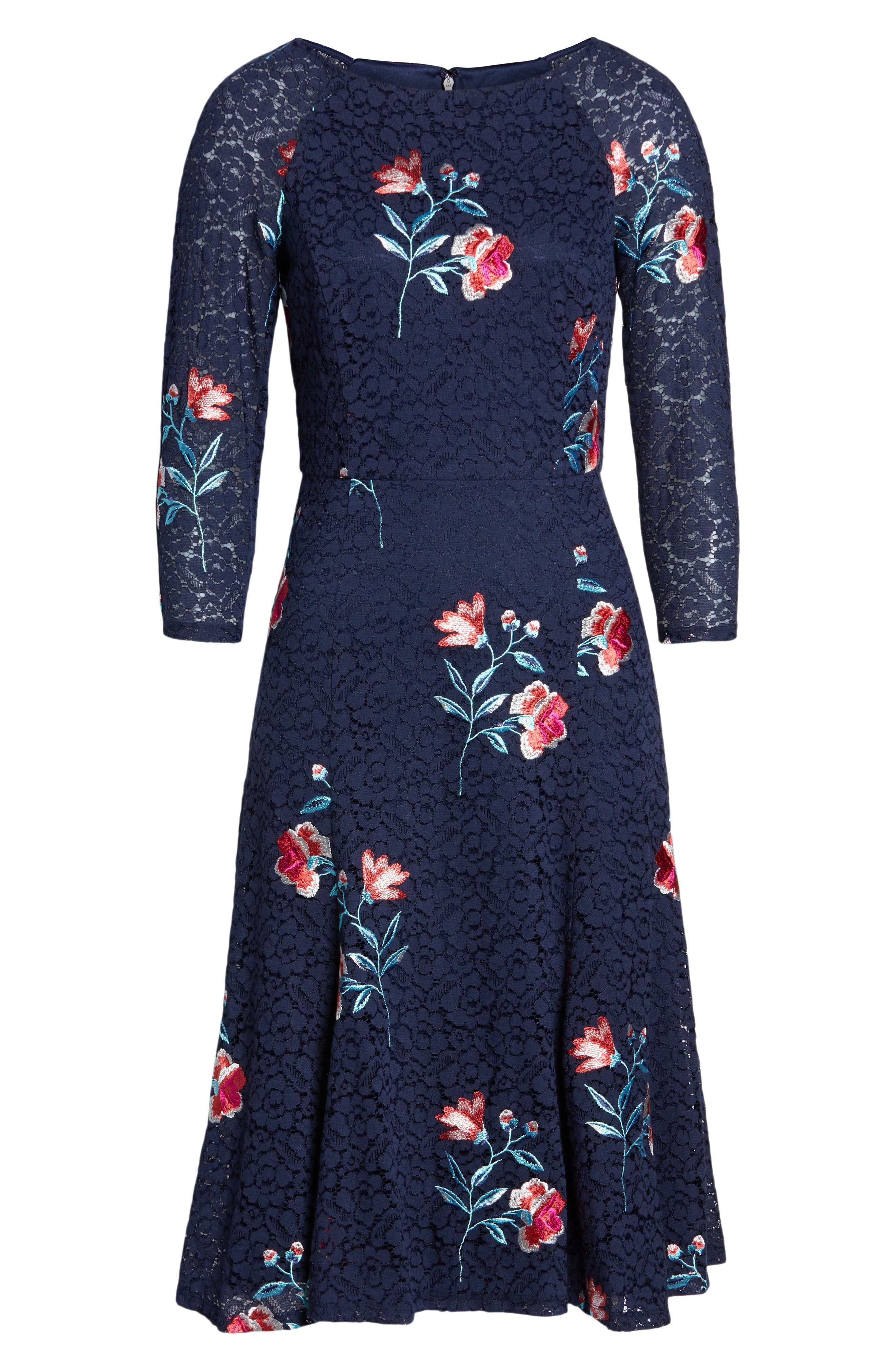 ,                             Embroidery & Lace A-Line Dress,                             Alternate thumbnail 7, color,                             410