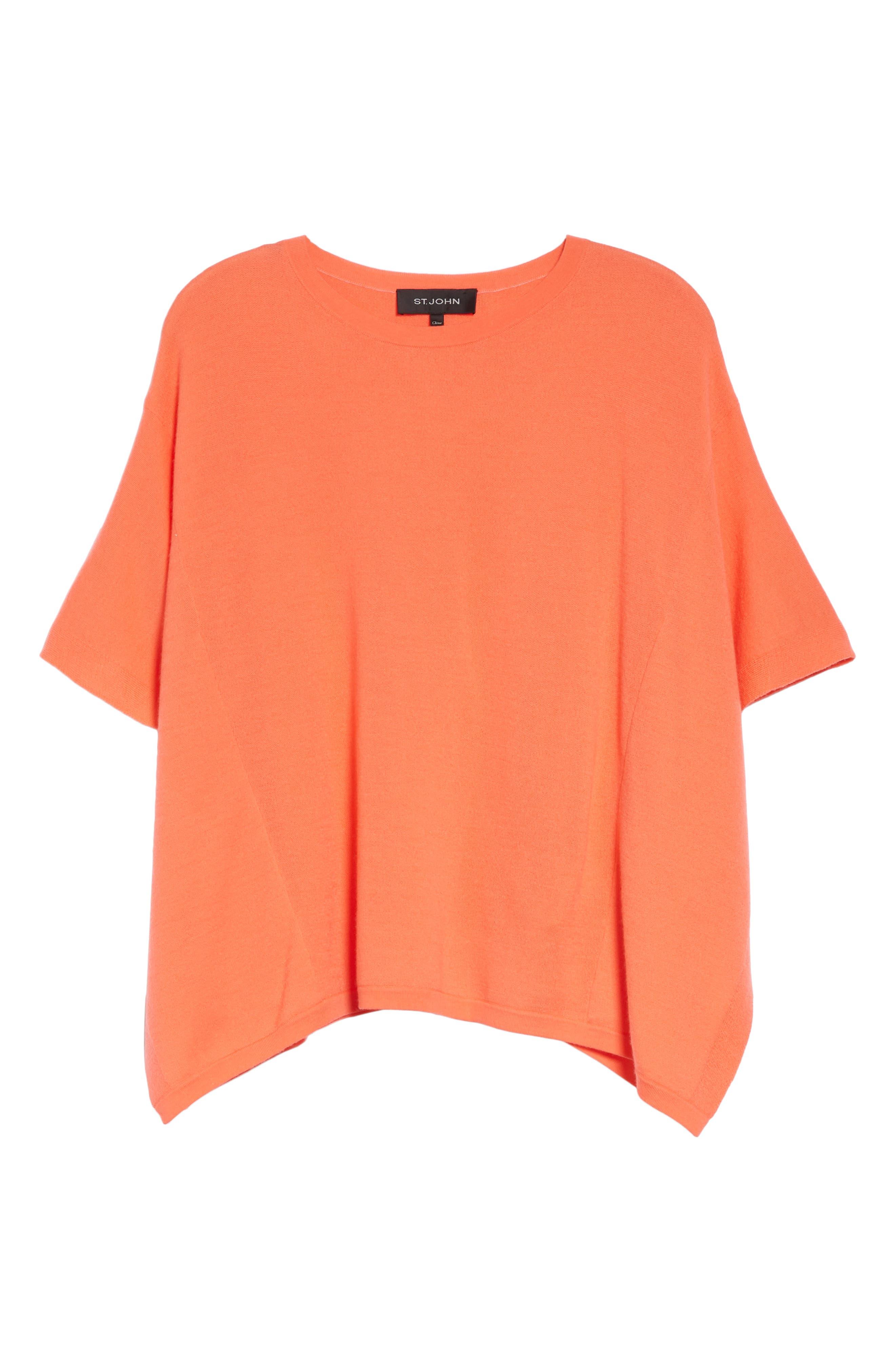 ,                             Float Jacquard Merino Wool Butterfly Sweater,                             Alternate thumbnail 6, color,                             BLOSSOM
