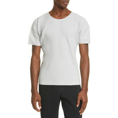 Homme Plisse Issey Miyake Pleated T-Shirt, Grey