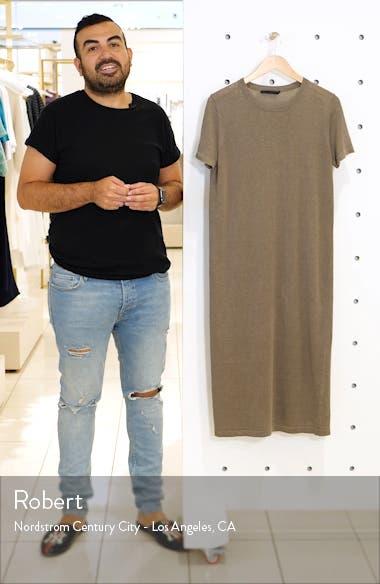 Linen T-Shirt Midi Dress, sales video thumbnail