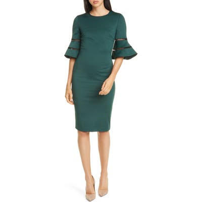 Ted Baker London Filnio Bell Sleeve Body-Con Dress