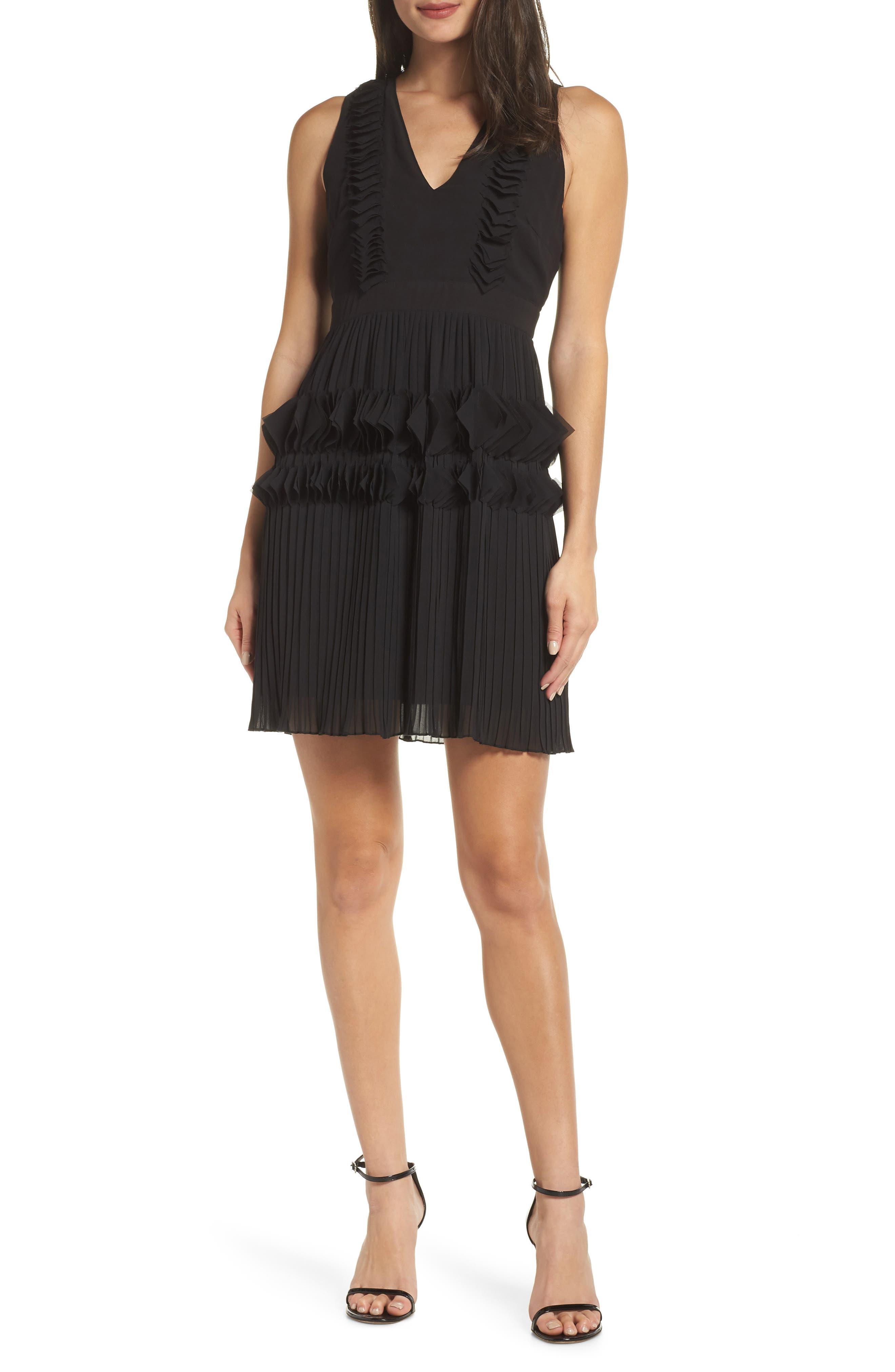 Love Ruffle Dress, Main, color, BLACK