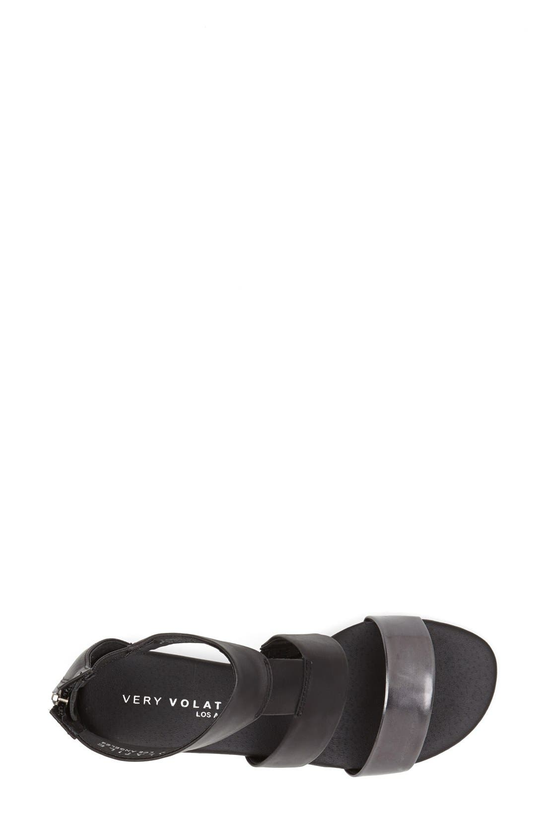 ,                             'Collective' Leather Sandal,                             Alternate thumbnail 4, color,                             001