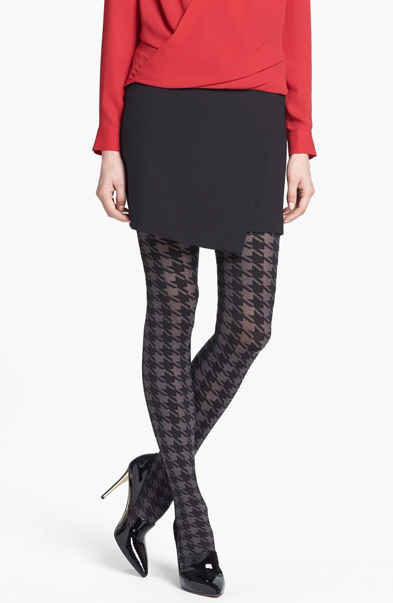 DKNY Houndstooth Tights, Main, color, 020