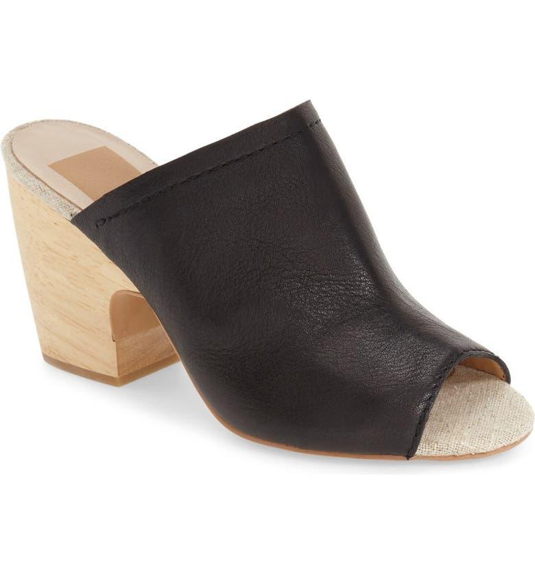 DOLCE VITA 'Tegan' Peep Toe Mule, Main, color, 001