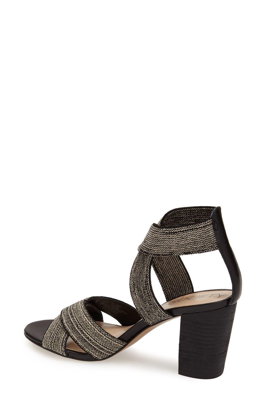 ,                             'Joesy' Block Heel Sandal,                             Alternate thumbnail 6, color,                             002