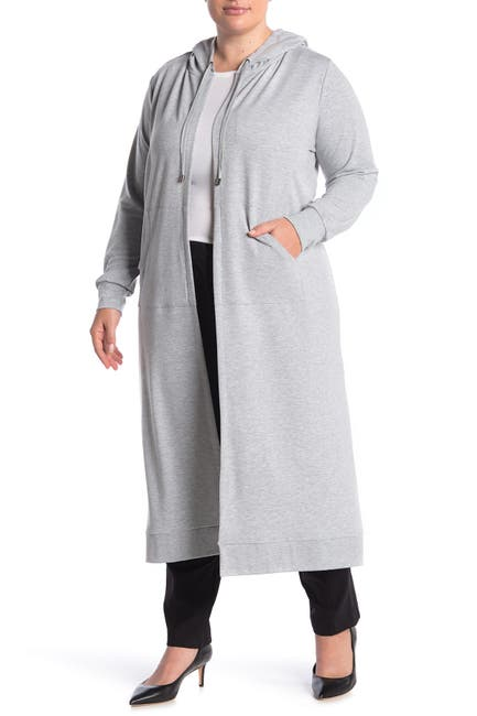 Image of Cyrus Long Sleeve Open Front Hooded Cardigan