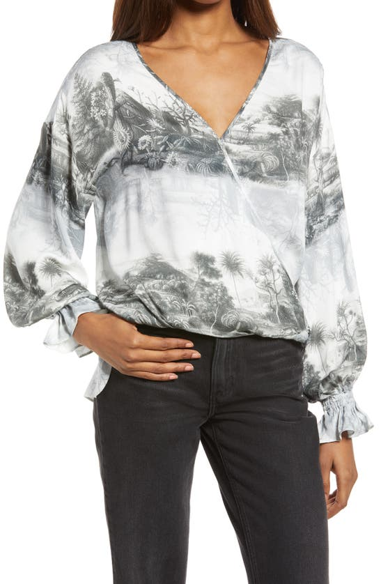 Allsaints Penny Illusion Long Sleeve Top In White