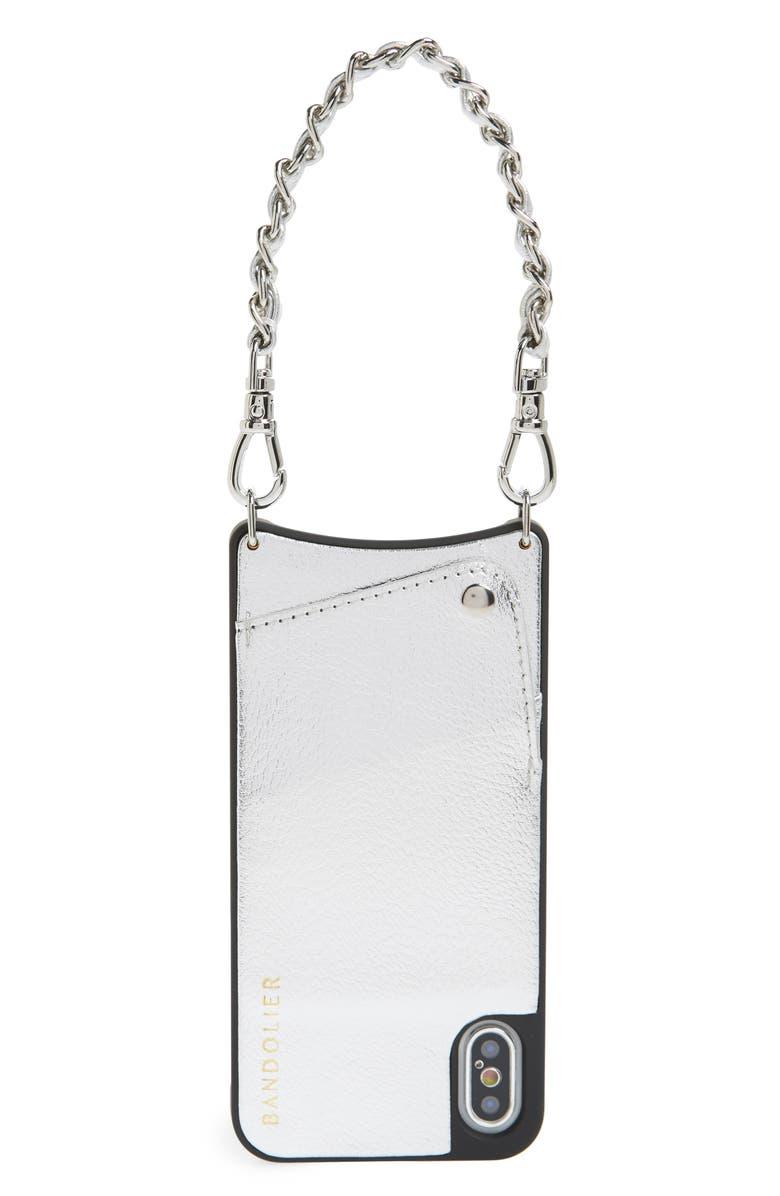 BANDOLIER Lucy Faux Leather iPhone X/Xs Wristlet Case, Main, color, 040