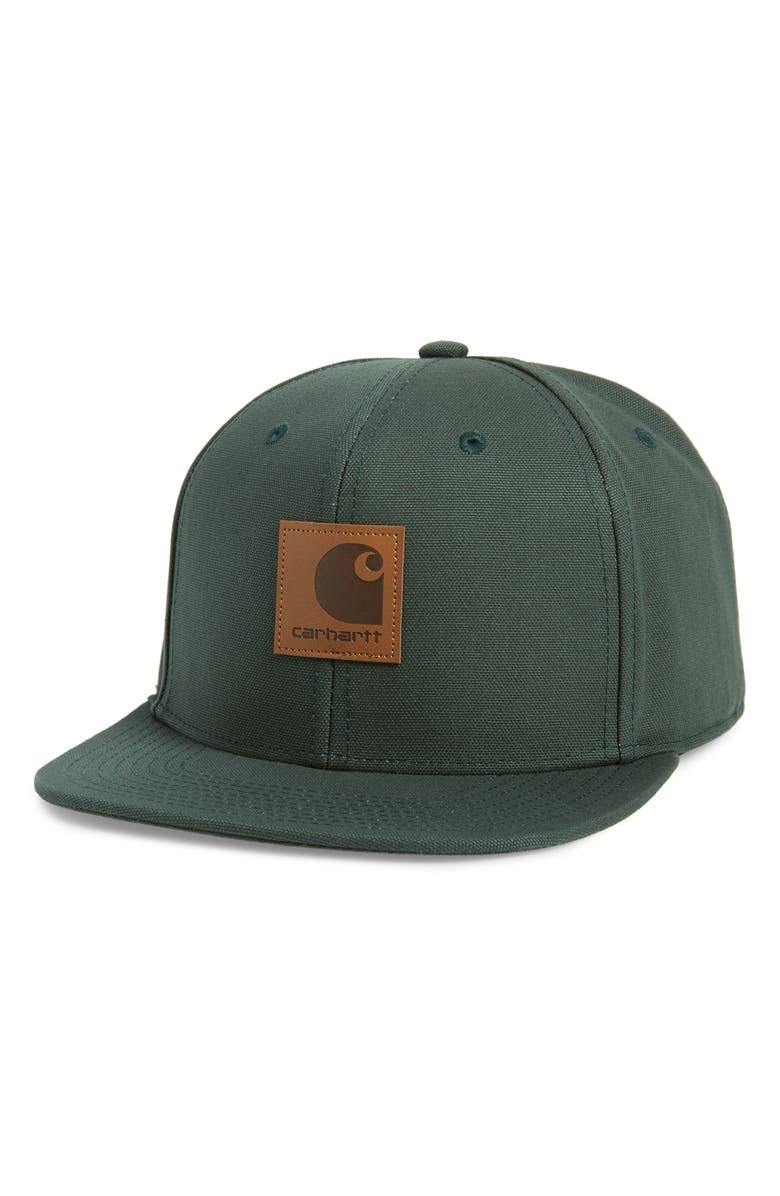 CARHARTT WORK IN PROGRESS Canvas Logo Ball Cap, Main, color, CITRONA GREEN
