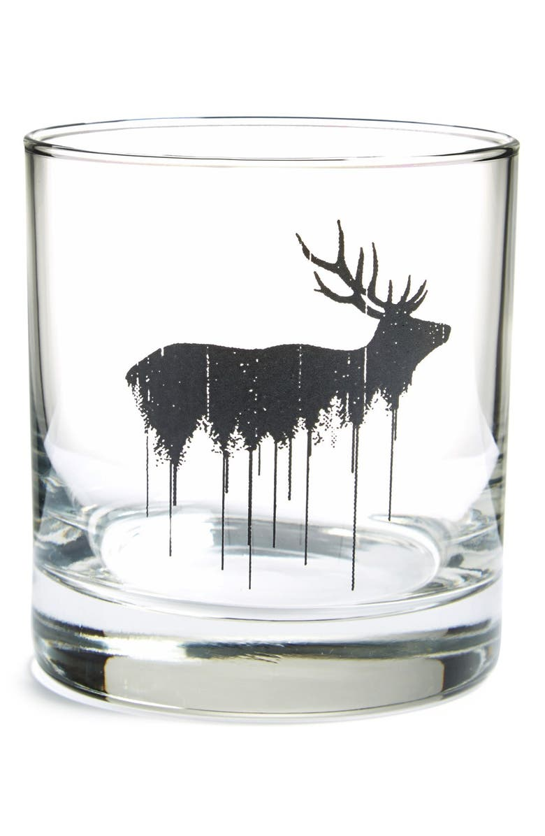 CRAWLSPACE STUDIOS 'Elk' Double Old Fashioned Glass, Main, color, 001