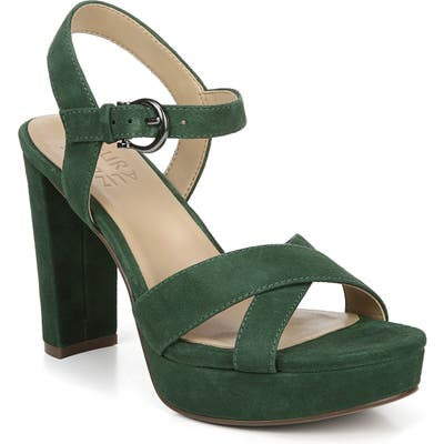 Naturalizer Mia Cross Strap Platform Sandal, Green