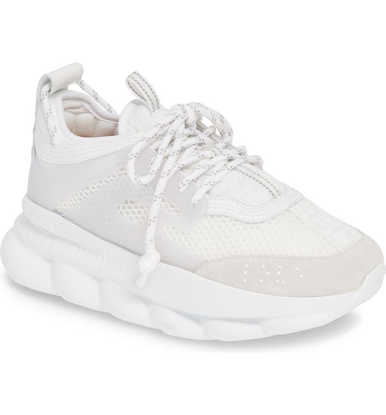 VERSACE FIRST LINE Versace Chain Reaction Sneaker, Main, color, BIANCO