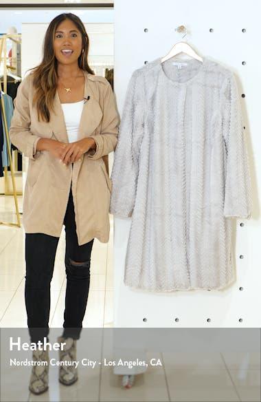 Chevron Faux Fur Coat, sales video thumbnail