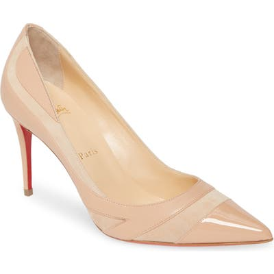 Christian Louboutin Youlahop Pointy Toe Pump, Beige