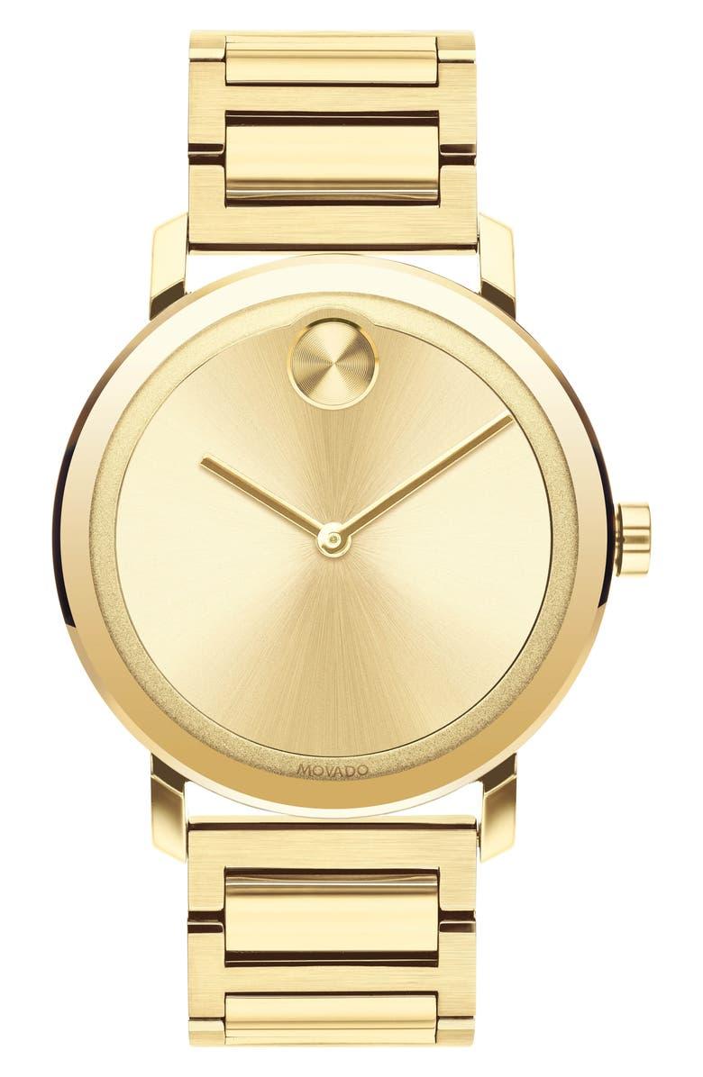 MOVADO Bold Evolution Bracelet Watch, 40mm, Main, color, GOLD