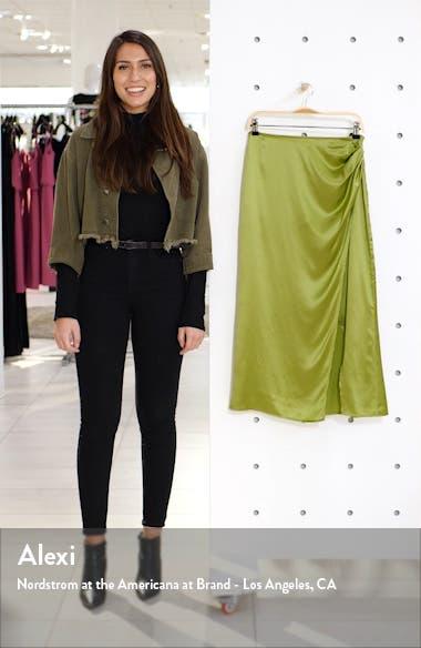 Sabine Silk Midi Skirt, sales video thumbnail