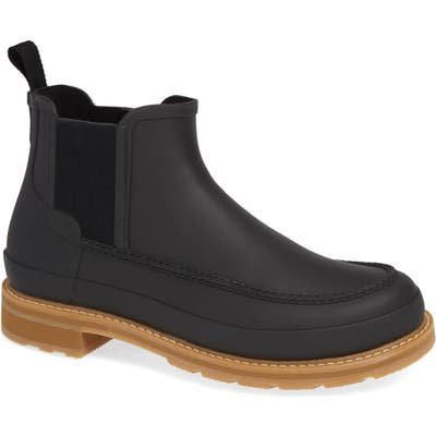 Hunter Moc Toe Waterproof Chelsea Boot, Black