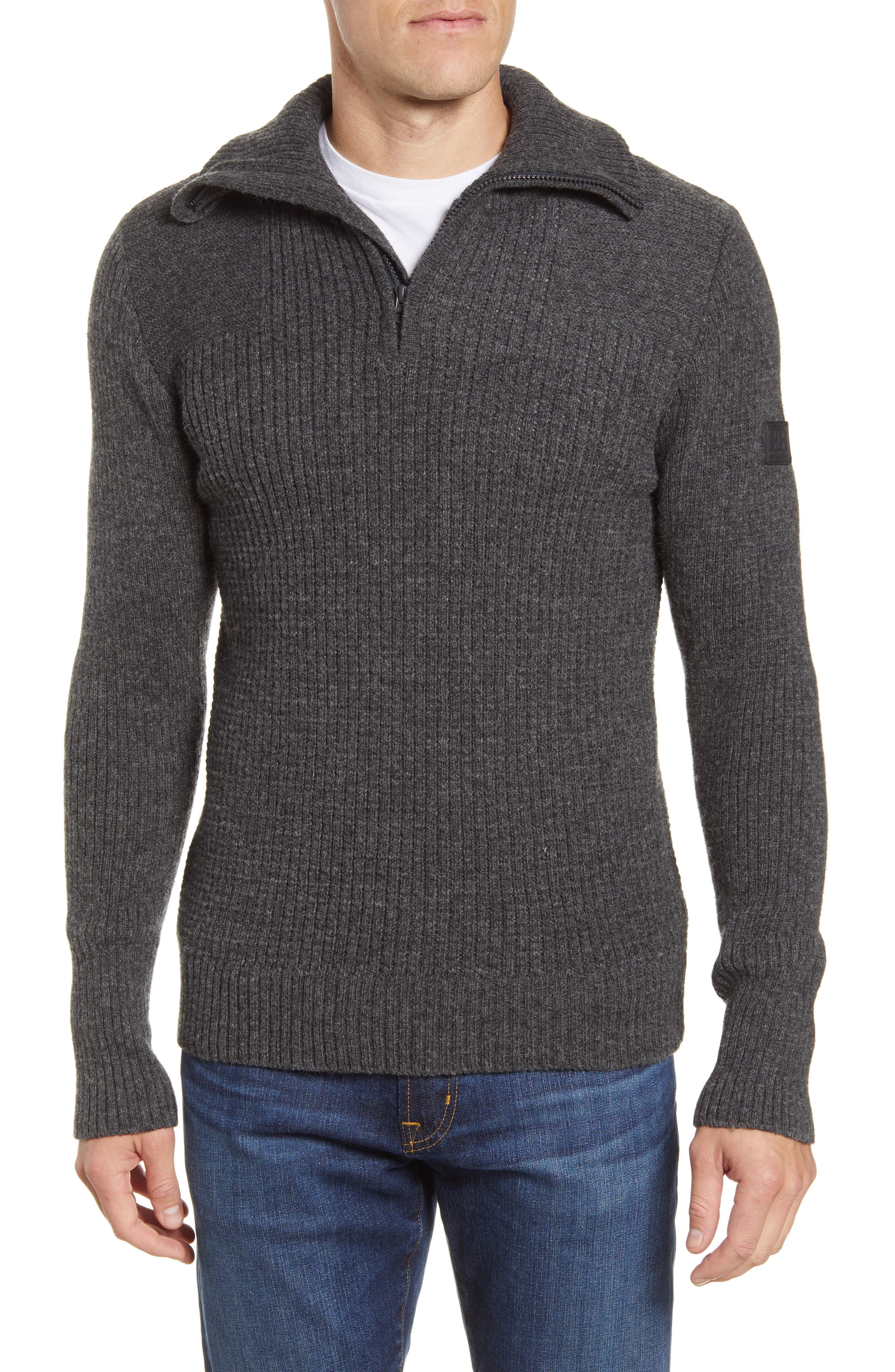 Marka Half Zip Wool Sweater