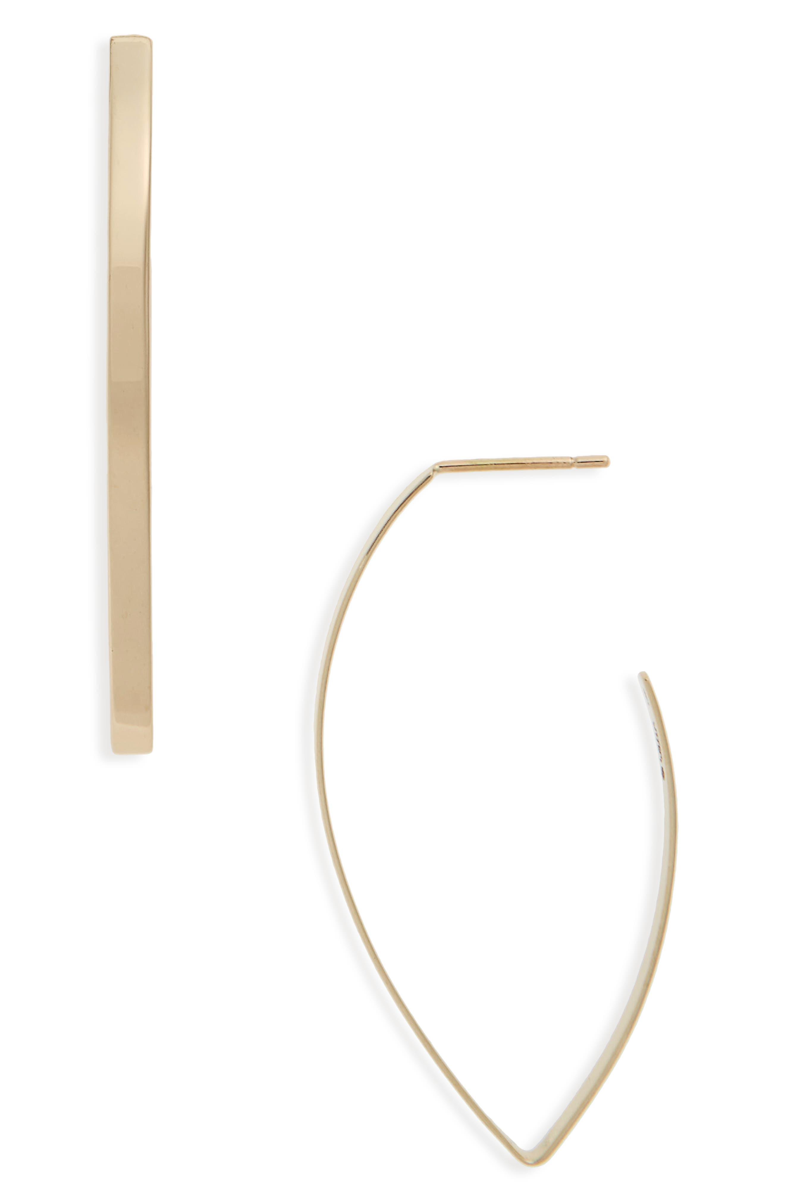 Blake Marquise Hoop Earrings