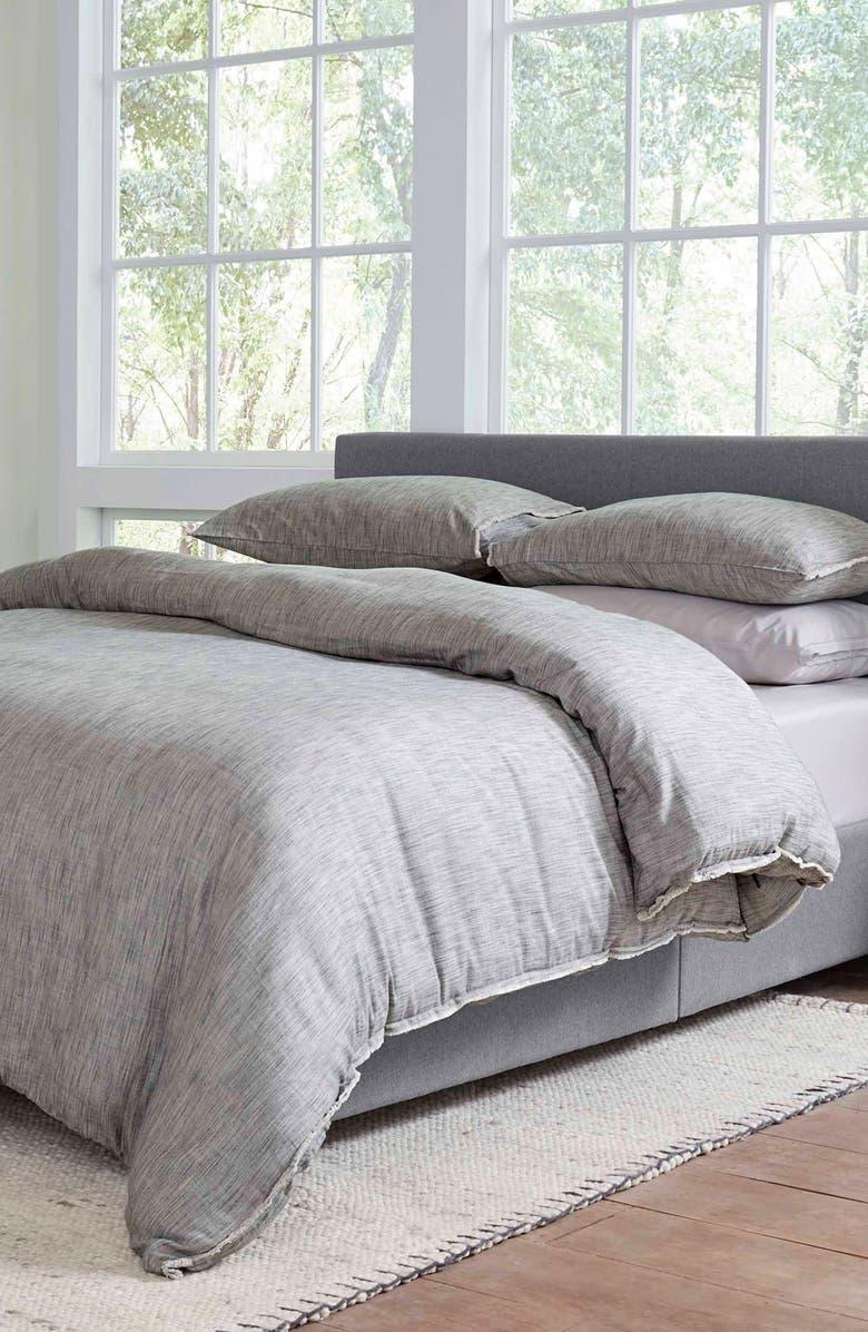 ED ELLEN DEGENERES Belmont Comforter & Sham Set, Main, color, SOOT