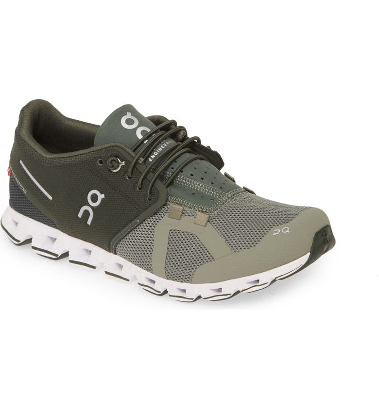 ON Cloud 50/50 Colorblock Running Shoe, Main, color, JUNGLE/ OLIVE
