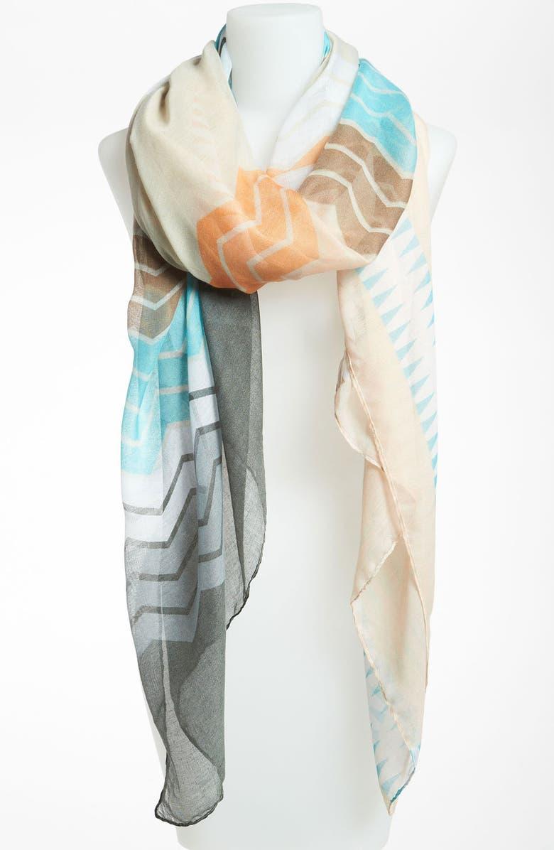 LULU Abstract Print Sheer Scarf, Main, color, 950