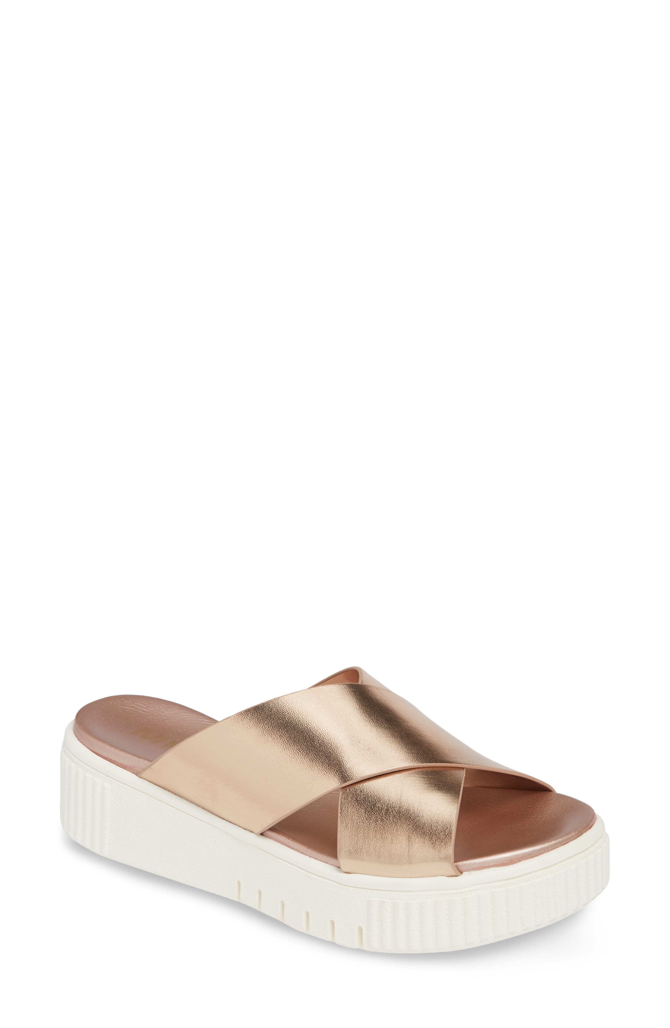Mia Lia Platform Sandal, Metallic