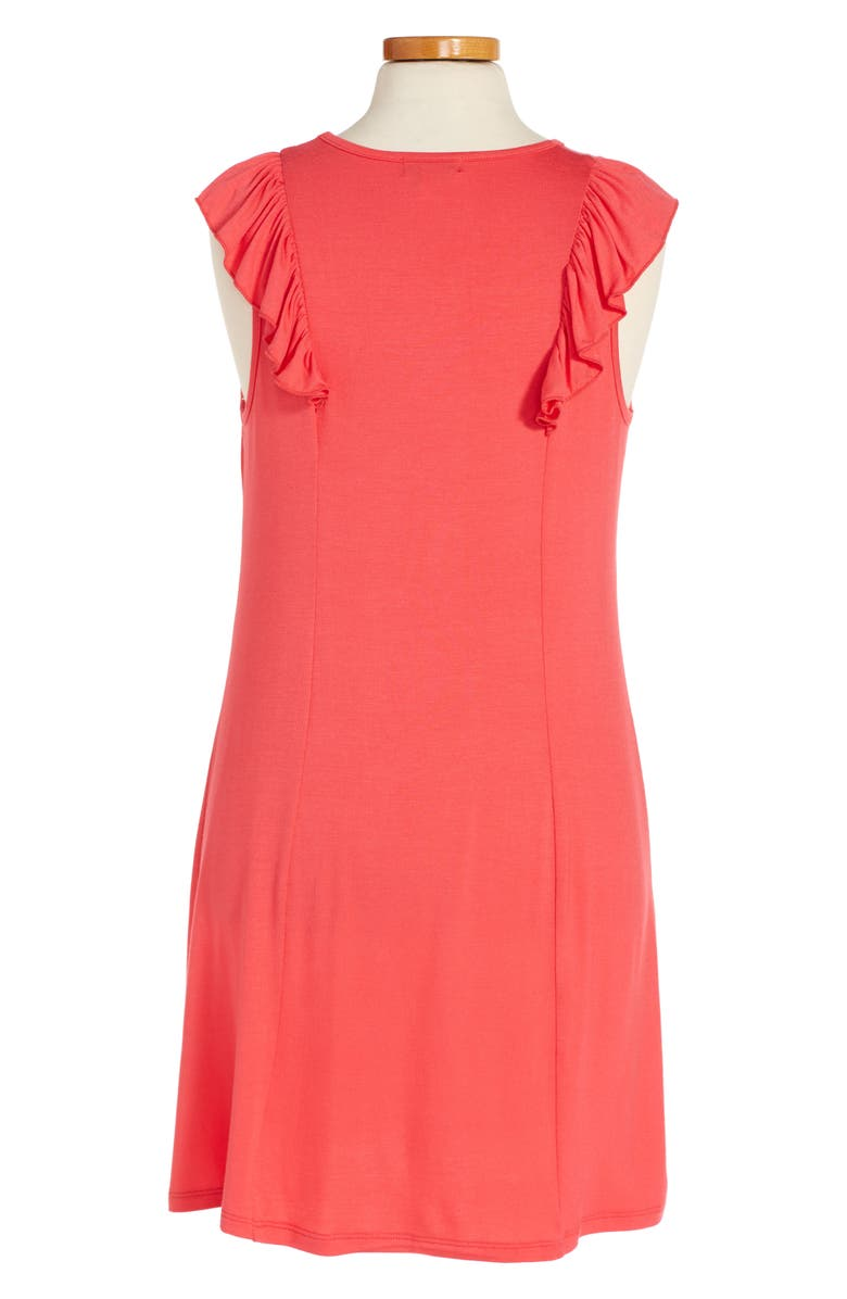 LOVE, FIRE Ruffle T-Shirt Dress, Main, color, 951