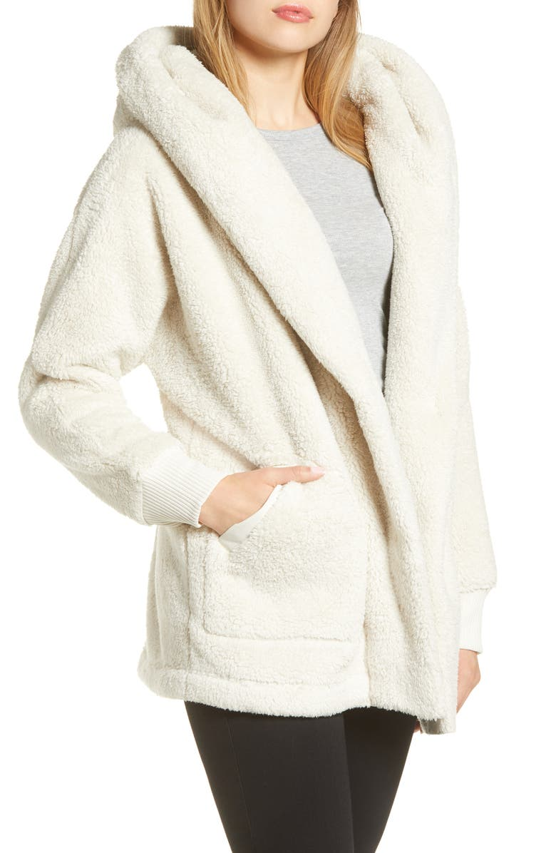 THE NORTH FACE Campshire Fleece Wrap Jacket, Main, color, VINTAGE WHITE