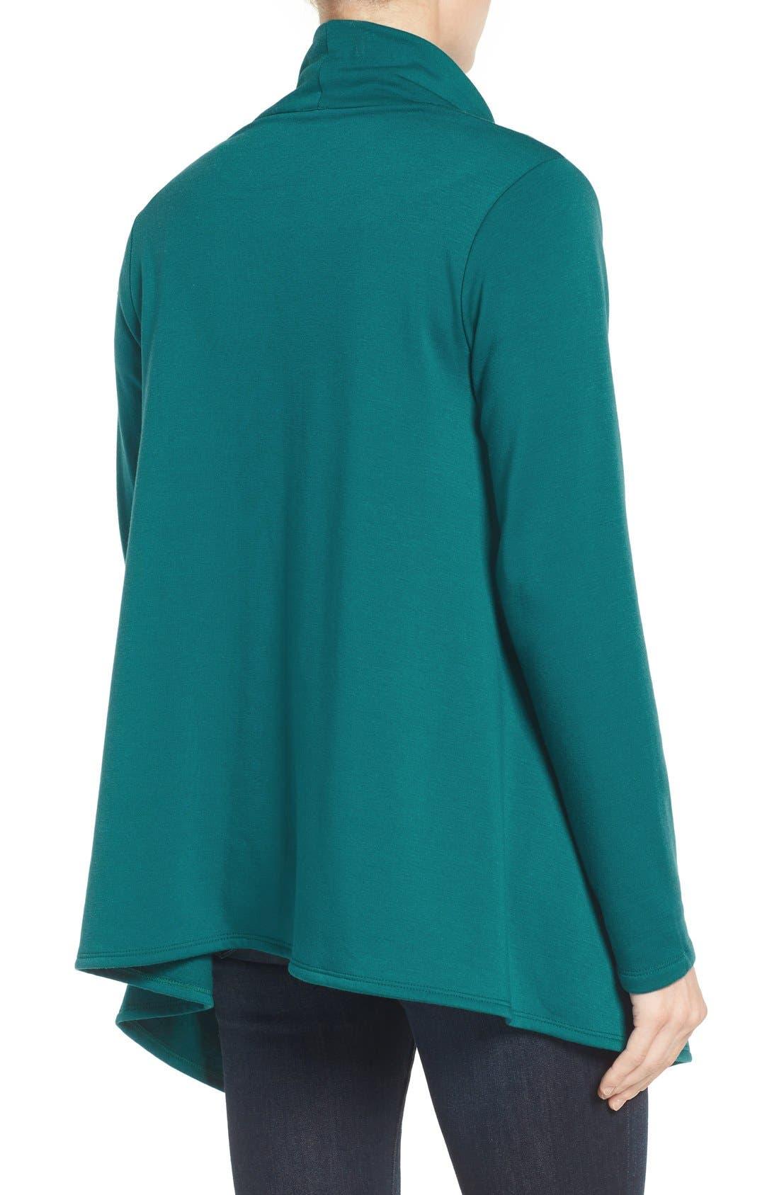 ,                             One-Button Fleece Wrap Cardigan,                             Alternate thumbnail 100, color,                             369