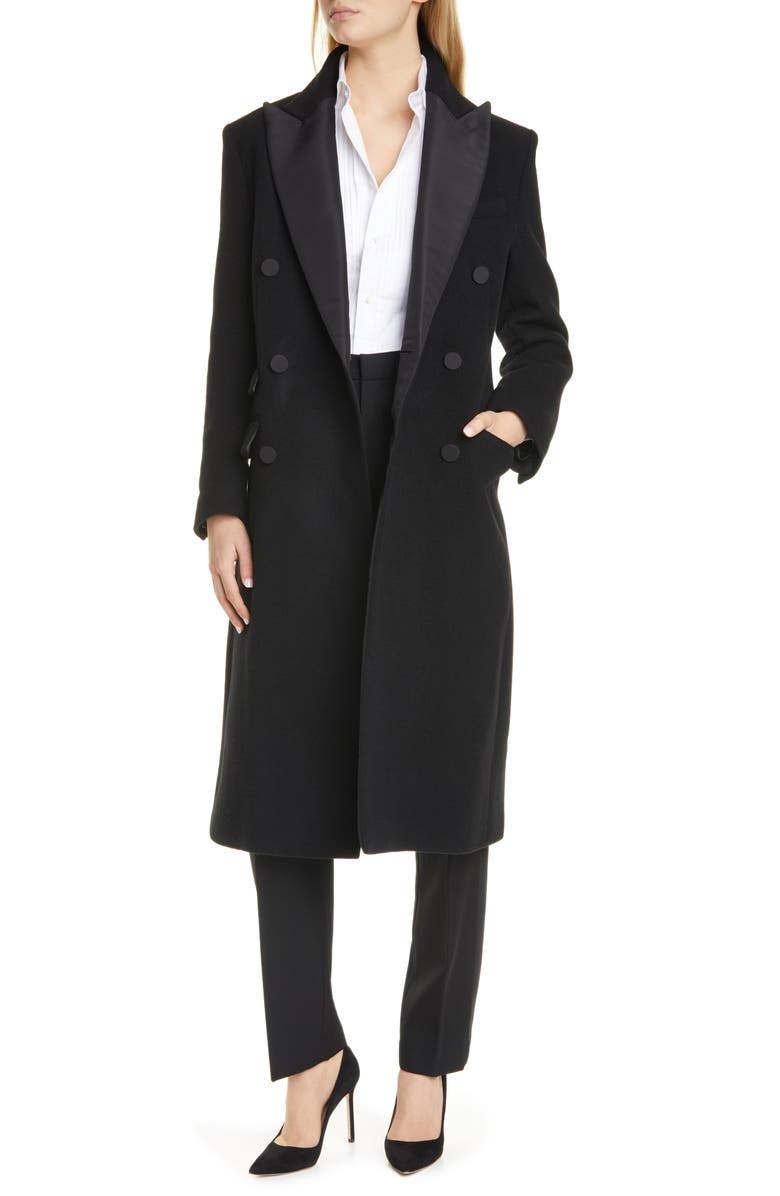 POLO RALPH LAUREN Tux Double Breasted Coat, Main, color, BLACK