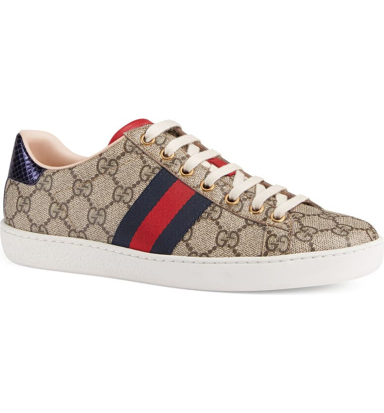 GUCCI New Ace Sneaker, Main, color, BEIGE