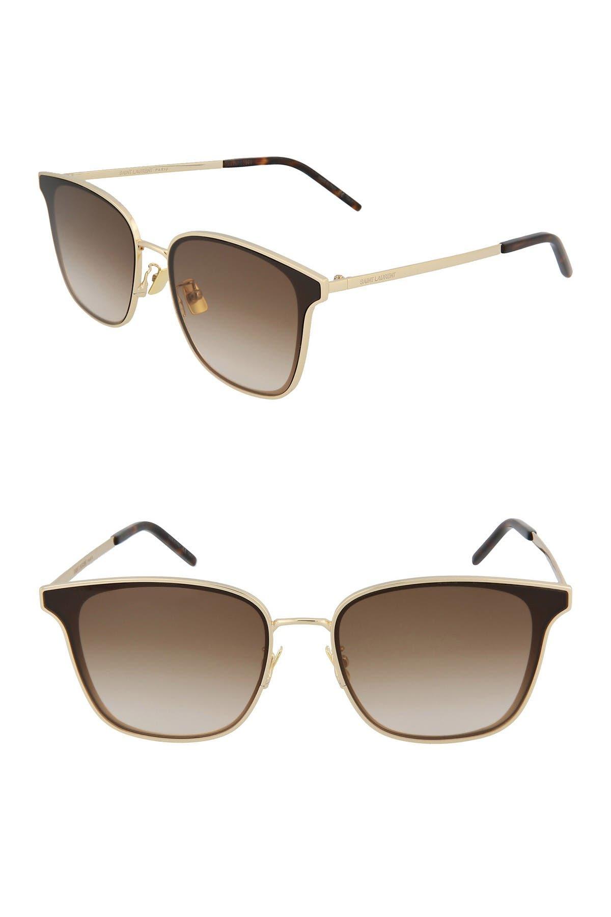 Image of Saint Laurent 64mm Retro Sunglasses
