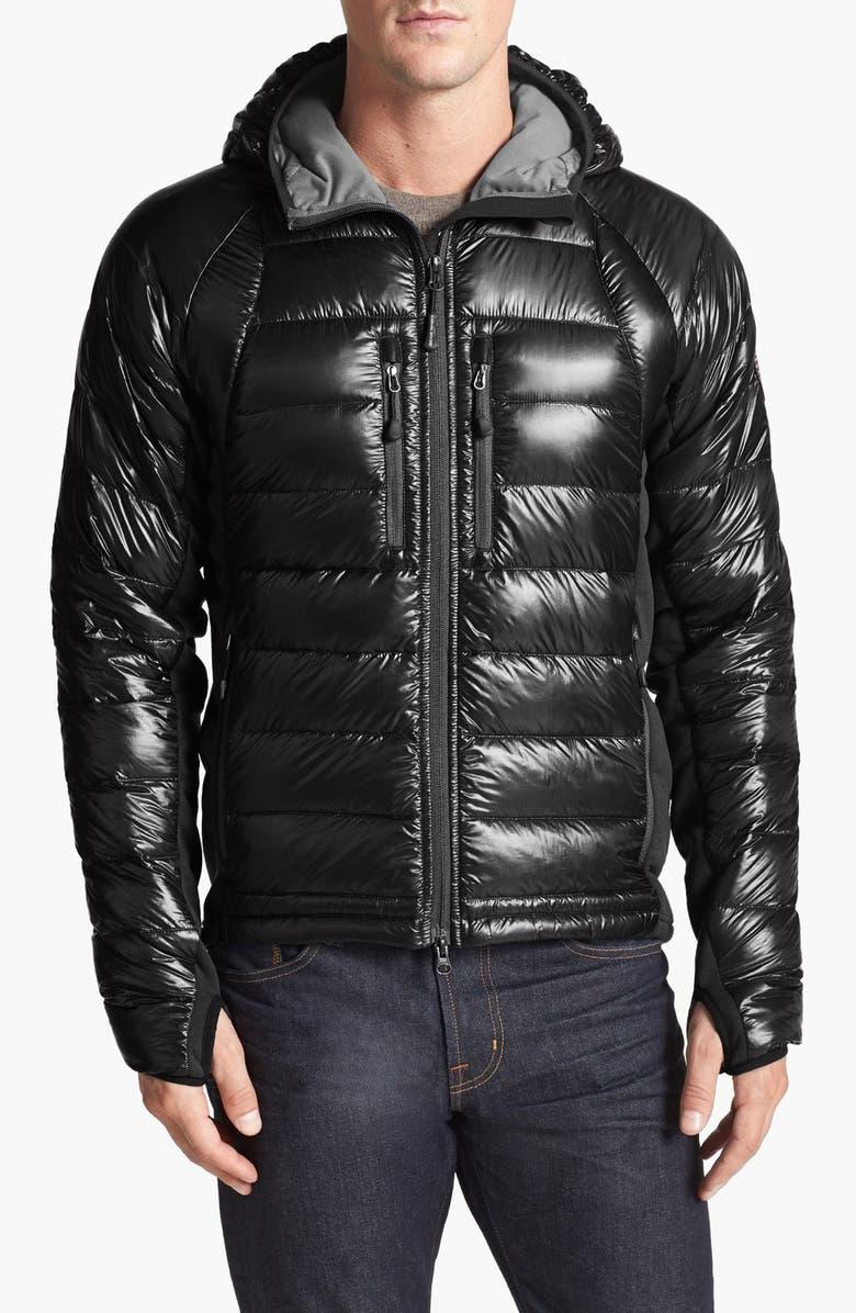 CANADA GOOSE 'Hybridge<sup>™</sup> Lite Hoody' Slim Fit Packable Jacket, Main, color, BLACK