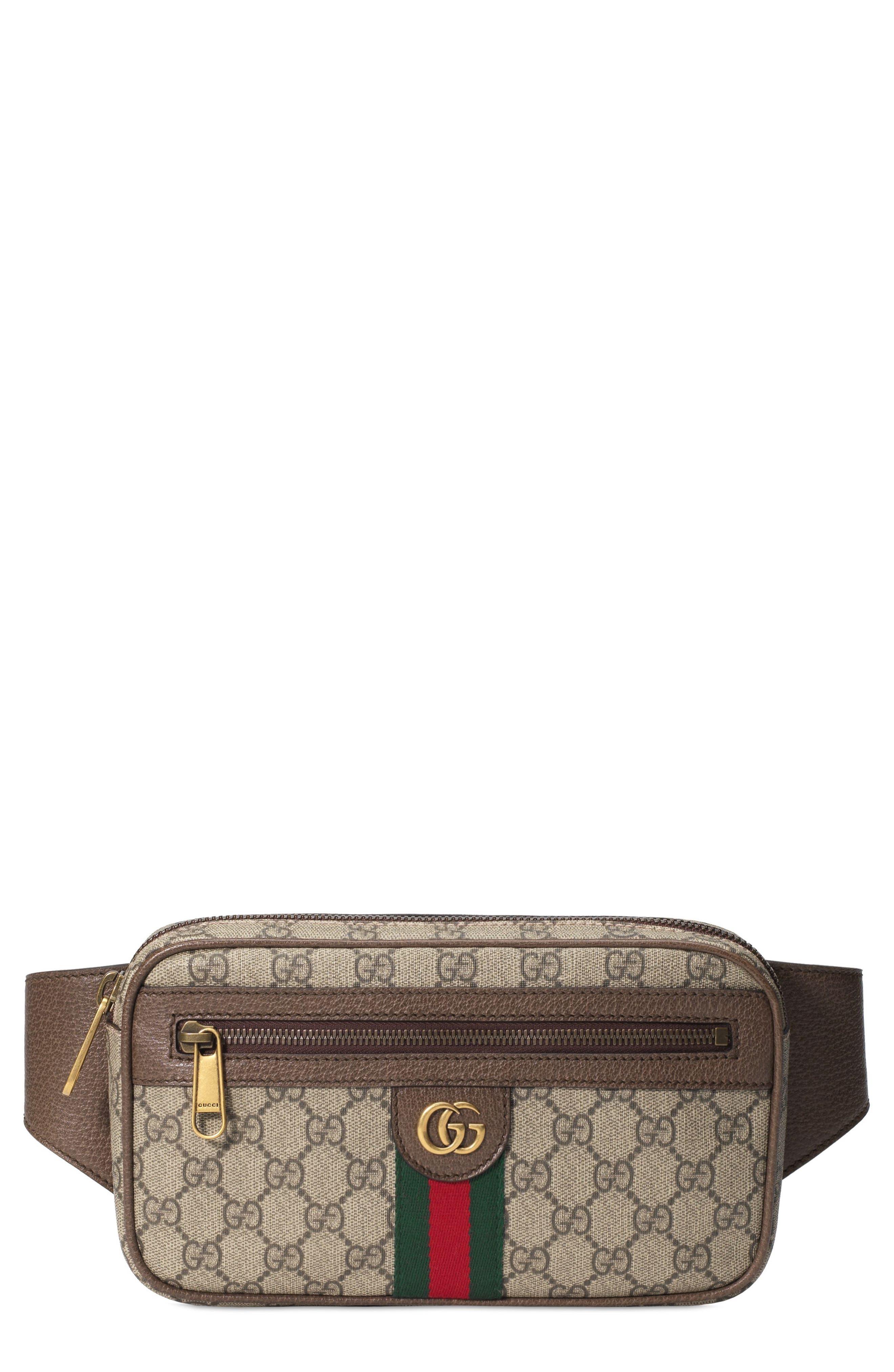 ff638f5177 $1100 Men's Gucci Ophidia Gg Supreme Canvas Belt Bag -