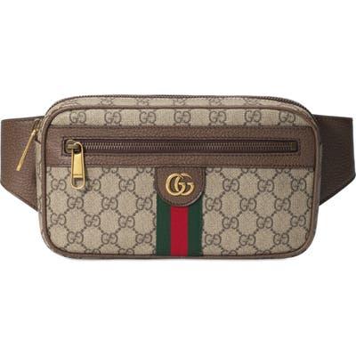 Gucci Ophidia Gg Supreme Canvas Belt Bag - Black