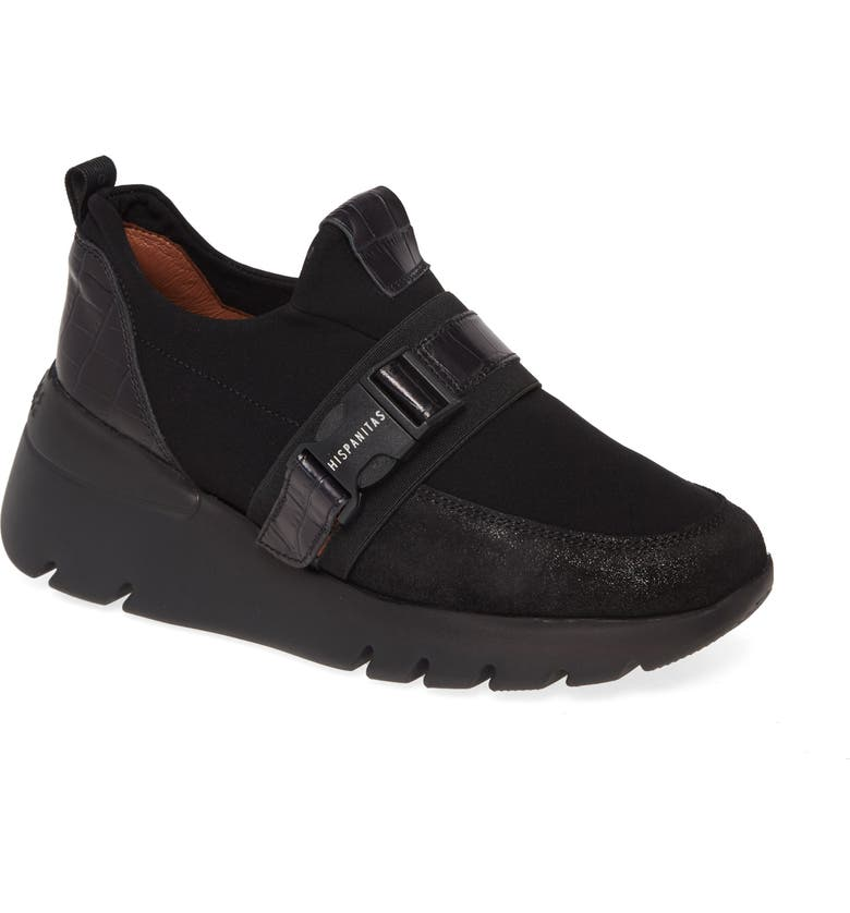 HISPANITAS Ransom Sneaker, Main, color, BLACK/ NEO BLACK LEATHER