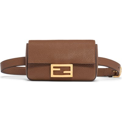 Fendi Leather Belt Bag - Brown