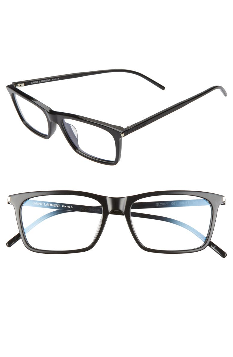 SAINT LAURENT 53mm Optical Glasses, Main, color, 001